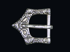Viking Belt Buckle 10th c. silver plated