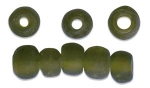 Glass Bead Olive Green