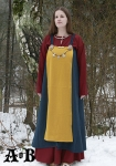 Viking Woman´s Apron Dress - blue / yellow