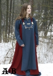Viking Woman´s  Apron Dress - red / blue