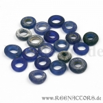 Old blue glass beads - 20 pcs